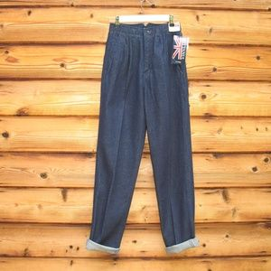 NWT Vintage 80's High Rise Tapered Leg Jeans